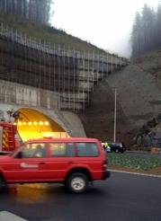 Bomberos y Policía han tomado parte en el simulacro de accidente Foto: 112 Euskadi