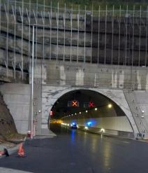 Túnel de Uretamendi. Foto: 112 Euskadi